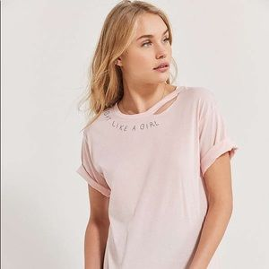 Urban Outfitters Fight Like a Girl Distressed Tee